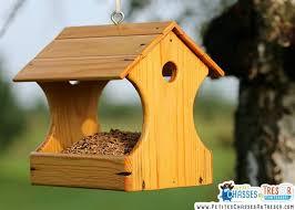 nichoir et une mangeoire à oiseaux