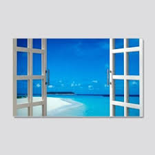 Window View Wall Decals Cafepress