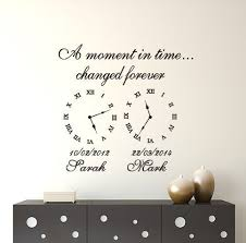 Wall Art Decal Memory Clocks A Moment In Time Clock Decal Wall Art Family Wall Decals Wall Decal Sticker