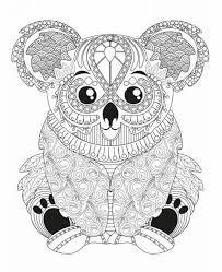 Koala Coloring Page Kleurplaten Zentangle Patronen Kleuren