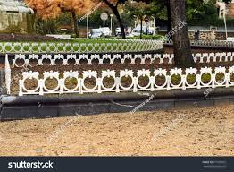 Small Metal Fence On Edge Garden Stock Photo Edit Now 771605665