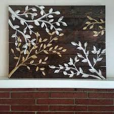 upscale tree branch reclaimed wood wall