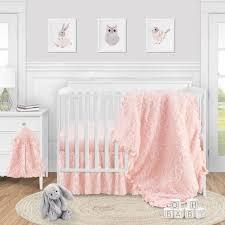 pink fl rose baby girl nursery crib