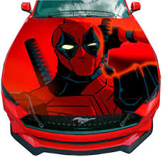 Vinyl Decal Deadpool Car Wrap Hood Full Color Top Graphics Comics Custom Sticker Ebay