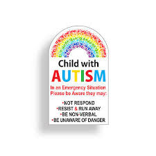 Autistic Child Warning Vinyl Decal May Not Respond Car Window Autism Awareness