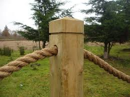 Rope Post 414 Fencing