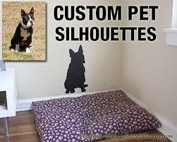 Custom Pet Silhouettes Pet Silhouette Decals