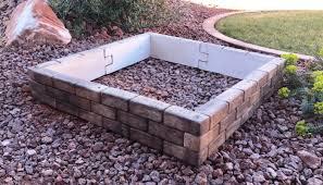 tumbled brick raised bed landecor