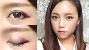 korean ulzzang style burgundy makeup