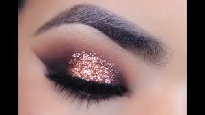 rose gold glitter makeup tutorial you