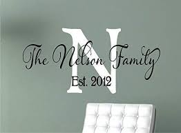 Amazon Com Family Wall Decals Personalized Name Wall Decal Monogram Vinyl Wall Decal Last Name Decal Family Name Decal Handmade