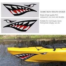 Ylshrf Truck Sticker 2pcs Waterproof Diy Funny Shark Teeth Mouth Sticker Decal Car Kayak Boat Truck Decoration Boat Sticker Walmart Com Walmart Com