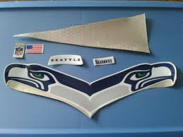 Seattle Seahawks Football Helmet Decals Set Sportscards Com