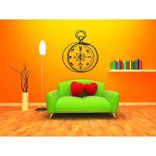 Shop Stopwatch Compass Wall Art Sticker Decal Overstock 11445317