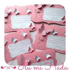 Invitaciones Bautizo Mariposas Para Victoria Ilumihada