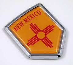 Amazon Com New Mexico Nm Usa State Flag Car Chrome Emblem Decal Sticker Bike Laptop Boat 3dd Sticker Badge Automotive