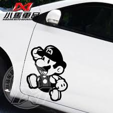 Free Shipping Super Mario Car Sticker 3d Reflective Car Stickers Game Cartoon Glue Sticker Car Styling Car Accessor Car Essentials Car Accessories Car Stickers