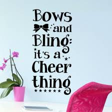 Bows And Bling Cheerleading Wall Decals Vinyl Written