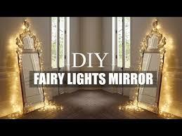 diy room decor fairy light mirror