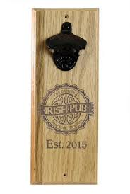 engraved irish pub wooden wall bottle