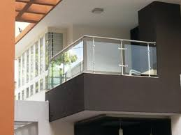 balcony design toughened glass
