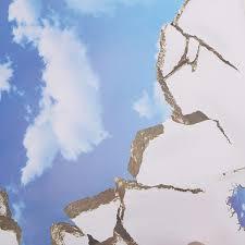Generic 3d Blue Sky Broken Ceiling Removable Wall Stickers Art Vinyl Decal Decor New