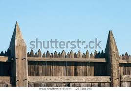 Top Area Fence Large Pointed Vertical Buildings Landmarks Stock Image 1212484198