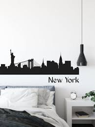 Custom New York City Skyline Wall Decal Ny City Skyline Wall Etsy