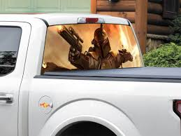 Product Boba Fett Bounty Hunter Star Wars Rear Window Decal Sticker Pick Up Truck Suv Car Any Size