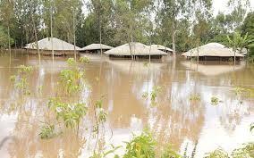 Parts of Ada West District in Ghana submerged in flood - DNT