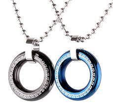 good luck circle pendant necklace