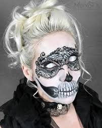 lace mask painted with mehron face paint