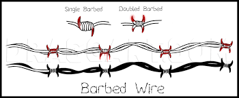 How To Draw Barbed Wire Step By Step Drawing Guide By Dawn Dragoart Com