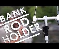 pvc bank fishing rod holder diy ep