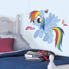 My Little Pony Rainbow Dash Peel Stick Wall Stickers