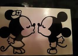 Mickey Minnie Kissing Disney Iphone Vinyl Decal Sticker Yeti Laptop Ebay