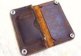 biker trucker diy leather wallet kit by