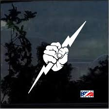 Electrician Lightning Bolt Window Decal Sticker Custom Sticker Shop