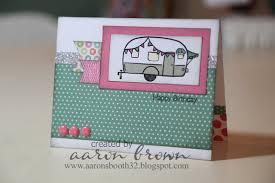 Happy Birthday Camper Card Sellos Making Ideas Y Caravanas