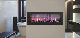 see through electric fireplace