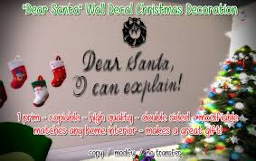 Second Life Marketplace Dear Santa Christmas Wall Decal