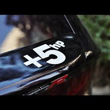 Motor Power 5 Hp Vinyl Decal Sticker For Car And Motorcycle Decoration Car Stickers Aliexpress