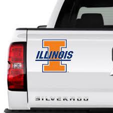 Illinois University I Logo Round Illi U Decal Car Window Sticker 4 5 College 5 99 Picclick