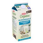 b organics unsweet vanilla almond milk