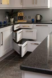 chic corner curio cabinets in kitchen