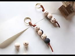 wooden bead keychain tutorial you