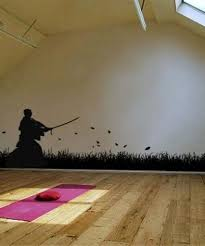 Asian Art Wall Stickers Samurai Swordsmen Wall Decal