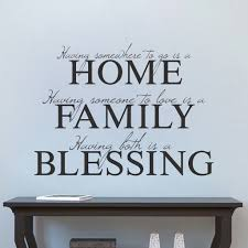 Home Decor Family Blessing Wall Decal Living Room Dinning Room Sticker American Wall Designs