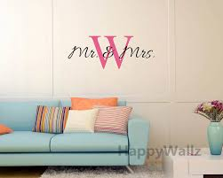 Mr Mrs Name Custom Wall Sticker Diy Family Name Wall Decal Vinyl Wall Quote Decorating Family Name Decor Hot Sale Free Shipping Vinyl Wall Quotes Custom Wall Stickerswall Quotes Aliexpress