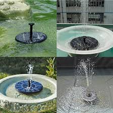 outdoor solar powered water fountain